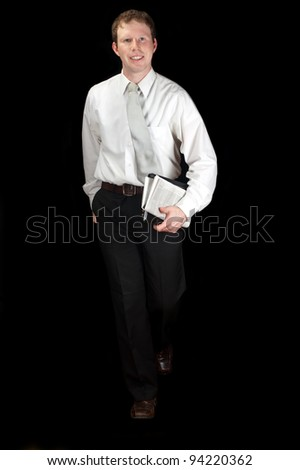 A young office worker - stock photo