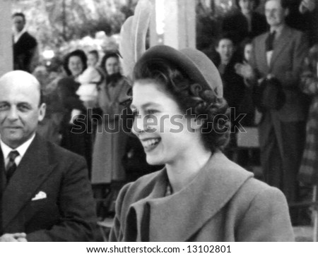A young Queen Elizabeth II when she lived in Malta between 1947 and 1951 - stock photo