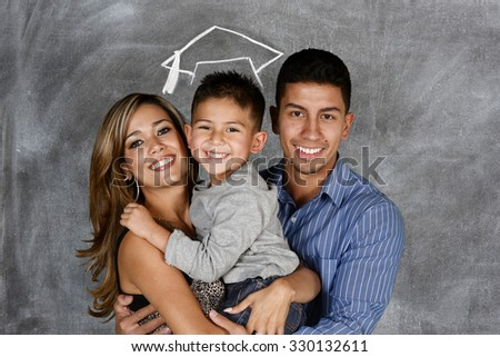 A young student who is graduating from school - stock photo