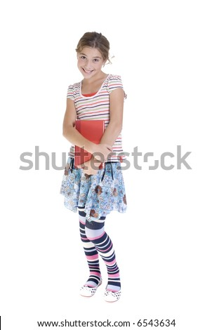 A young teenage Girl poseing for the camera.( family, friends, growing up, youth) - stock photo