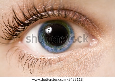 A young woman's eye - close up - stock photo