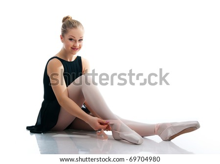a young wonderful ballerina isolated on white