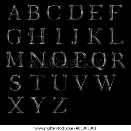 Smoke Alphabet Stock Images Royalty Free Images Amp Vectors