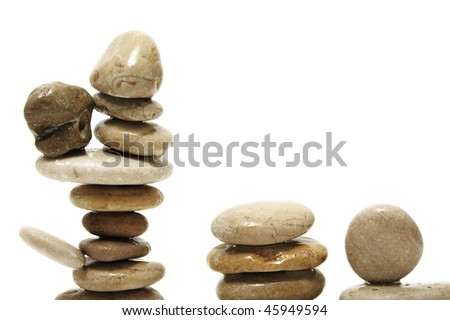 a zen stones on a white background