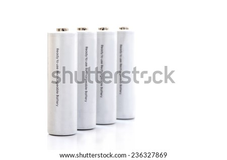AA Rechargeable battery isolated on white background