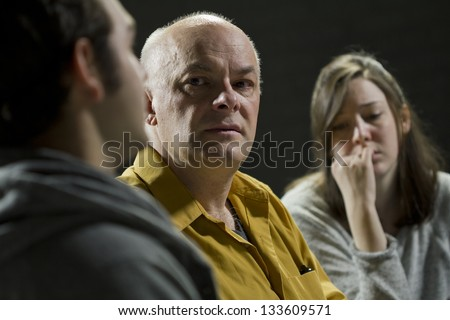 AA support group therapy - stock photo