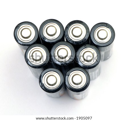 AAA batteries isolated over white