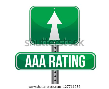 AAA rating sign illustration design over a white background