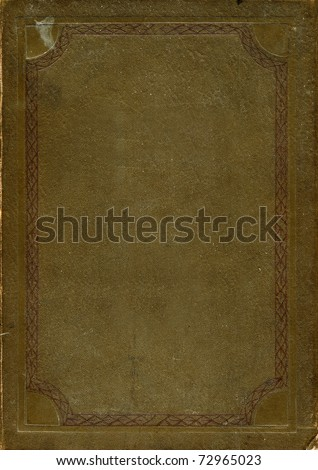 aantique book cover - stock photo
