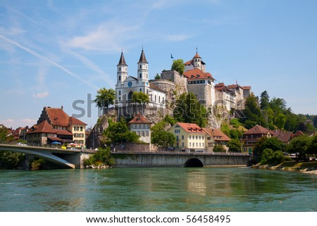 Aarburg castle near Zurich, Switzerland - stock photo