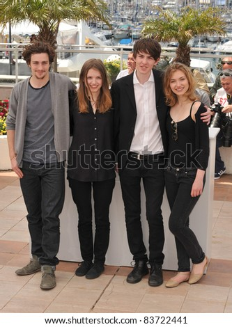 "Aaron Johnson, Matthew Beard, Hannah Murray & Imogen Poots at the photocall for new movie ""Chatroom"" at the 63rd Festival de Cannes. May 14, 2010  Cannes, France Picture: Paul Smith / Featureflash"