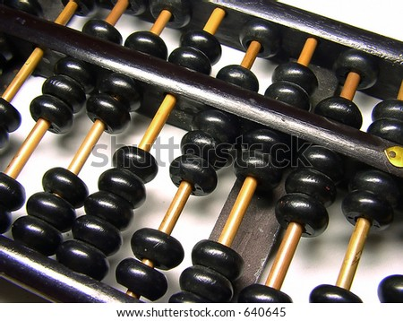 Abacus Close up - stock photo
