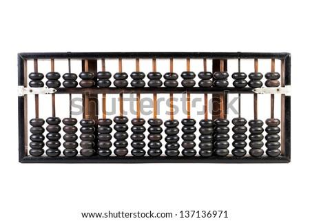 abacus isolated on white - stock photo