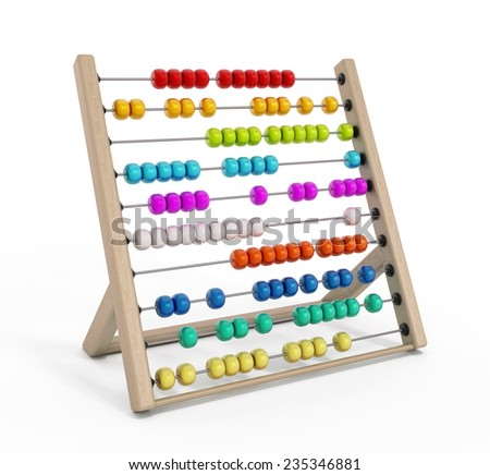 Abacus isolated on white background. - stock photo