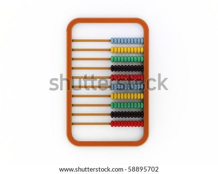 abacus isolated on white background - stock photo