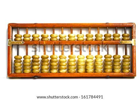 Abacus on white background - stock photo