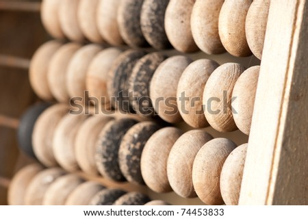 Abacus or counting frame - stock photo