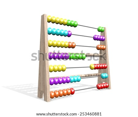 Abacus perspective - stock photo