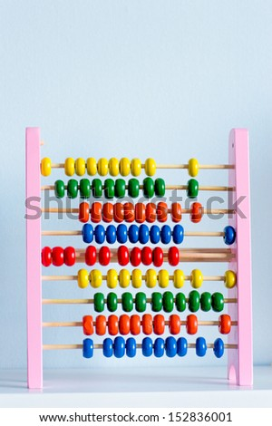 Abacus with many colorful beads