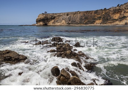 Abalone Cove in the Palos Verdes Estates area near Los Angeles, California. - stock photo