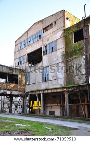 abandon building - stock photo