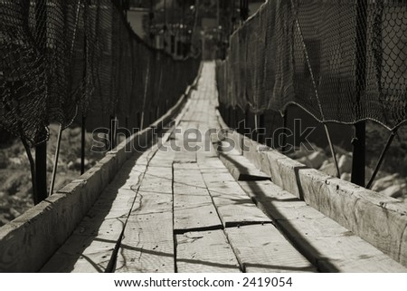 abandon rickety suspension bridge (2)