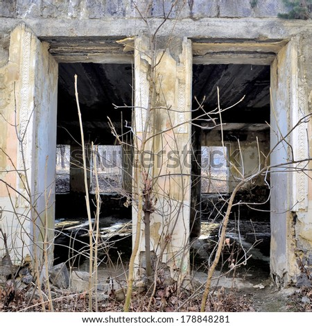 abandoned and old buildings - stock photo