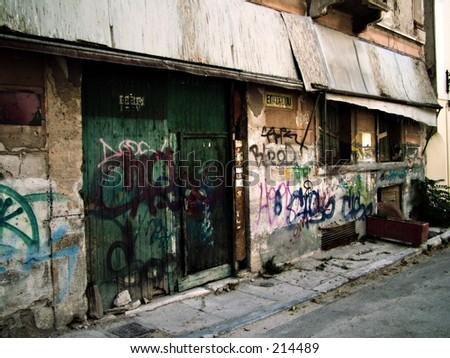 Abandoned and Vandalized - stock photo
