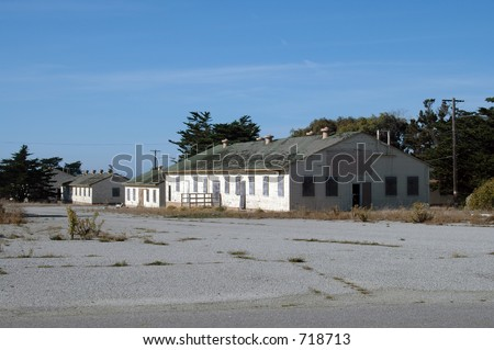 Abandoned army barracks, Fort Ord, California