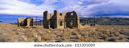 Abandoned Army Post, Circa 1860, Fort Churchill State Park, Nevada - stock photo