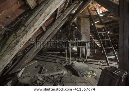 Abandoned Attic Stock Photo 411557674 Shutterstock