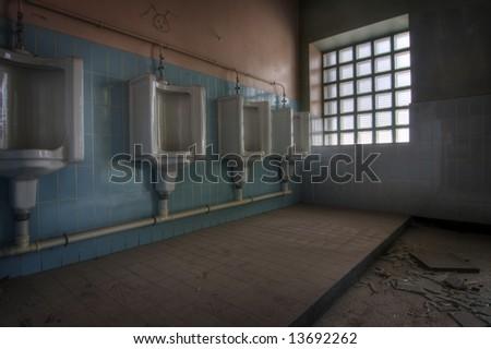 Abandoned Bathroom - stock photo