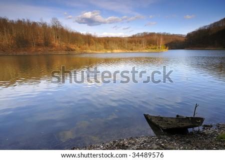 Abandoned boat - stock photo
