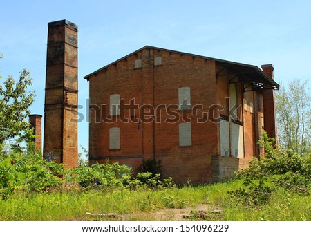 Abandoned brick factory. The Cheltenham Brick Works, Caledon, Ontario, Canada - stock photo
