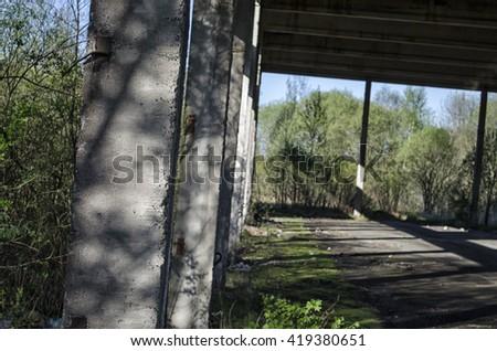 abandoned building - stock photo