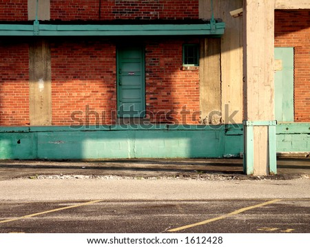 Abandoned Building in downtown Dayton - stock photo