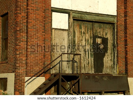 Abandoned Building in downtown Dayton, OH - stock photo