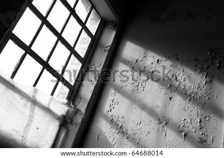 abandoned building in state of urban decay - stock photo