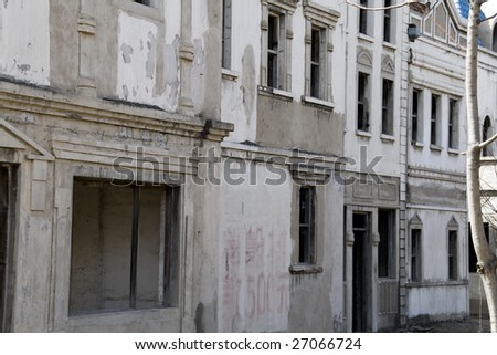 abandoned building in town in china