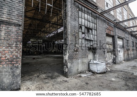 abandoned building of an old foundry