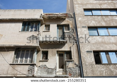 Abandoned building ruins - stock photo