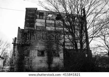abandoned buildings - stock photo