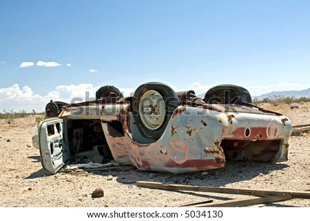 Abandoned Car in Desert