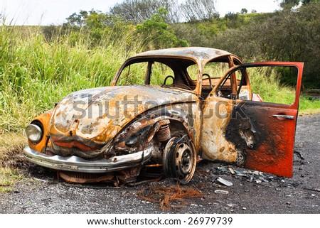 abandoned car the island of maui hawaii