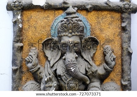 Indian mural art stock images royalty free images for Mural ganapathi
