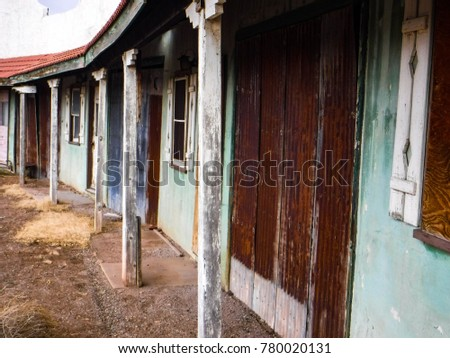 Abandoned colorful old motel in Lordsburg New Mexico. & Abandoned Colorful Old Motel Lordsburg New Stock Photo (Royalty Free ...