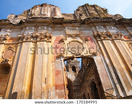 Abandoned deconsecrated church in Bussana Vecchia, Imperia, Italy - stock photo