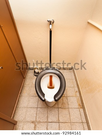 Abandoned disgusting toilet - stock photo
