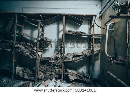 Abandoned ex soviet underground cold war stock photo for Industrial nightmare pictures