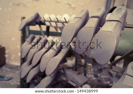 Abandoned factory detail - stock photo